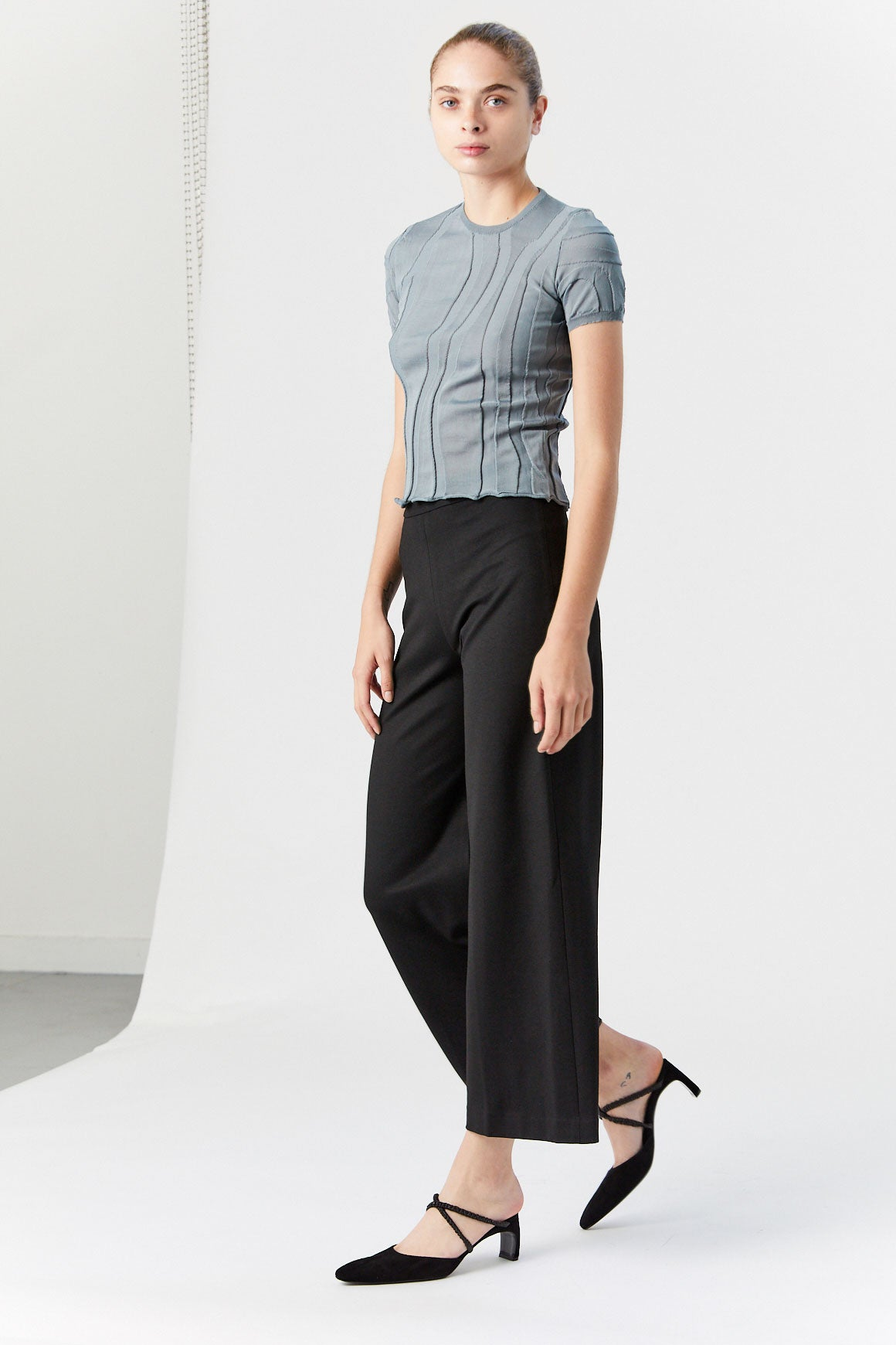 ROSETTA GETTY - Pull On Straight Trouser, Black