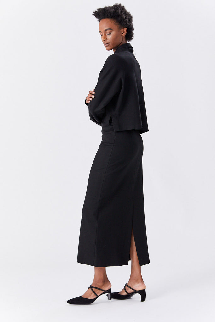 ROSETTA GETTY - Straight Maxi Skirt, Black