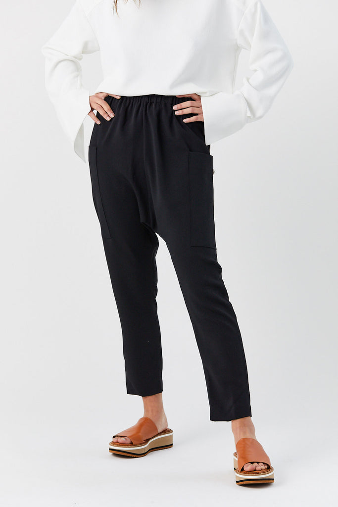 ROUCHA - Patch Pants, Black