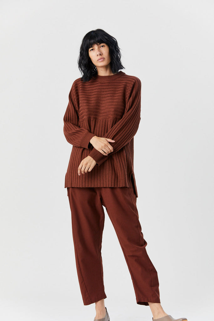 ROUCHA - Telle Ribbed Sweater, Tan