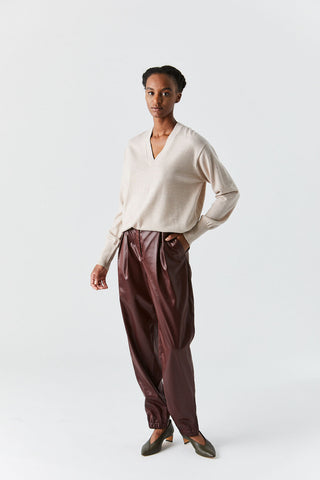 Relaxed V-Neck Sweater, Oatmeal