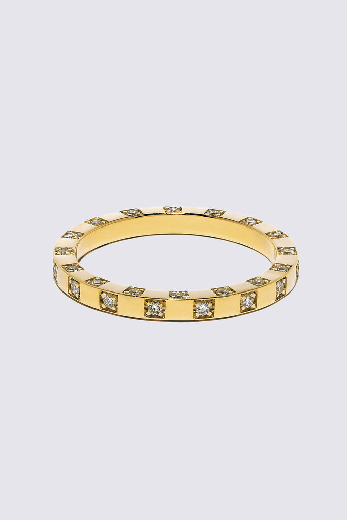 AZLEE - Scattered Diamond Band, Gold