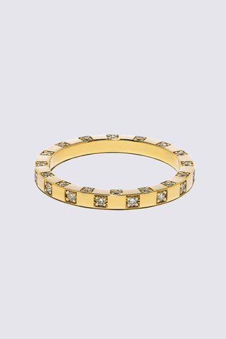 Scattered Diamond Band, Gold