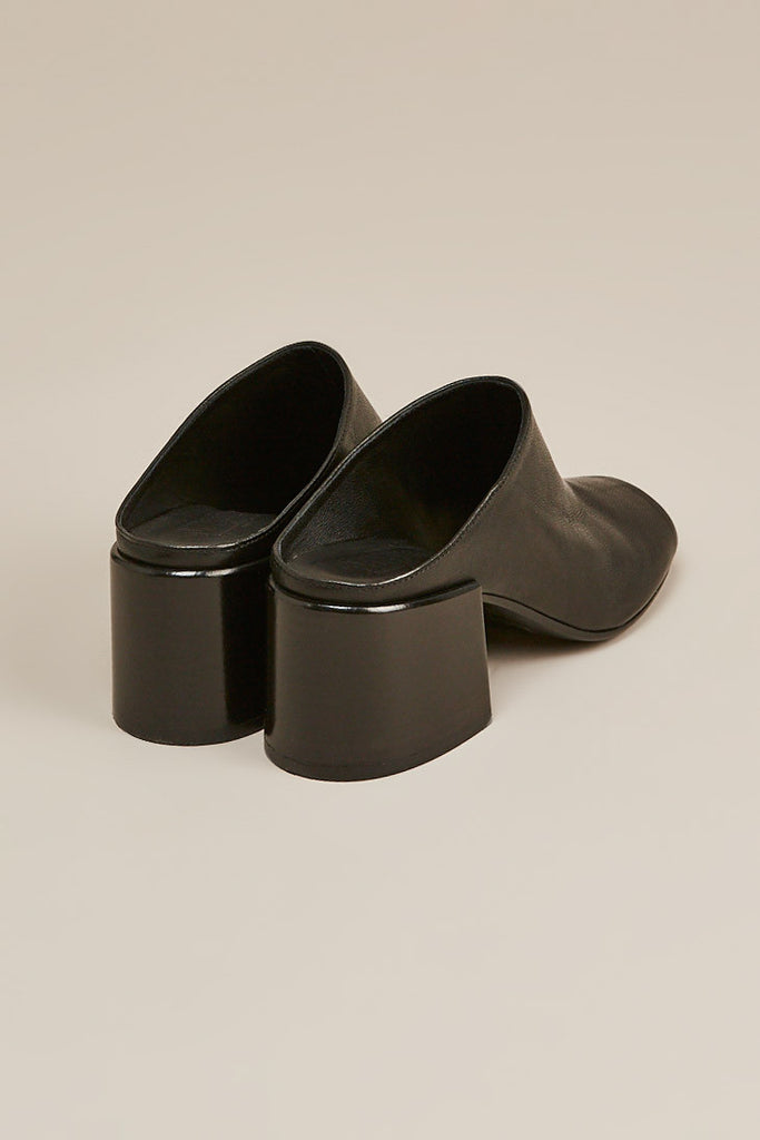 Leather mule, Black by MM6 by Maison Martin Margiela @ Kick Pleat - 4