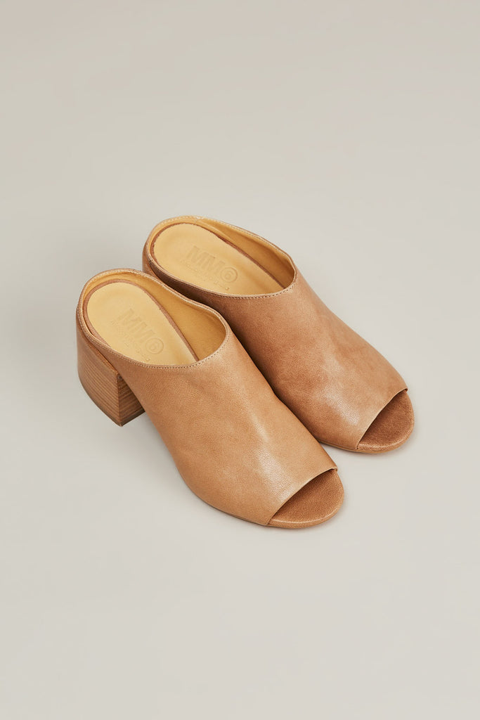Leather mule, Nude by MM6 by Maison Martin Margiela