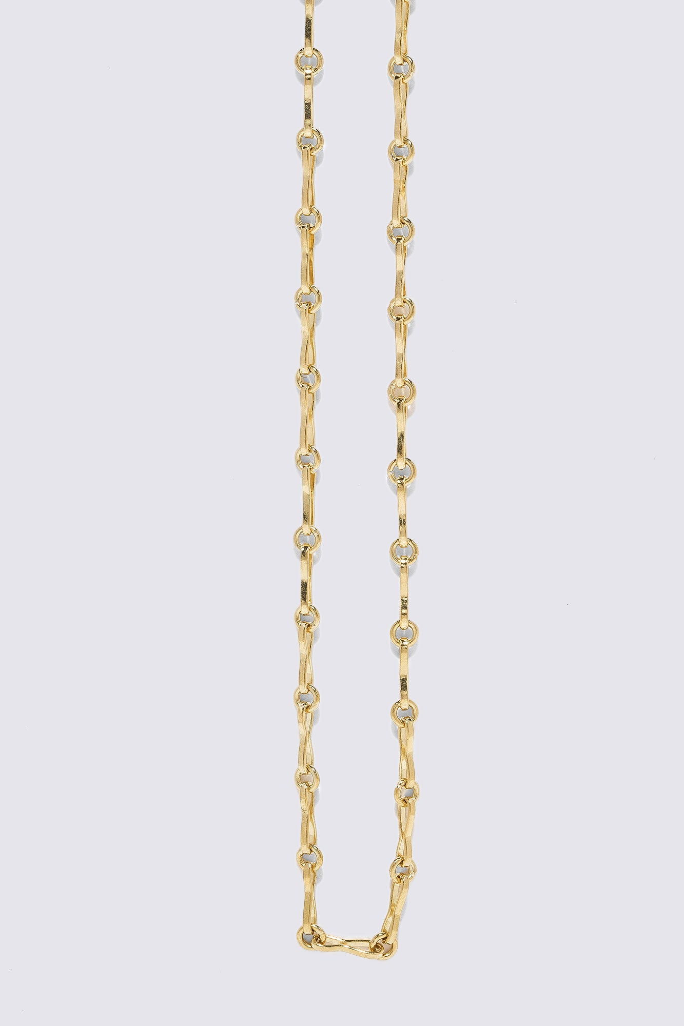 AZLEE - Small Circle Link Chain, Gold