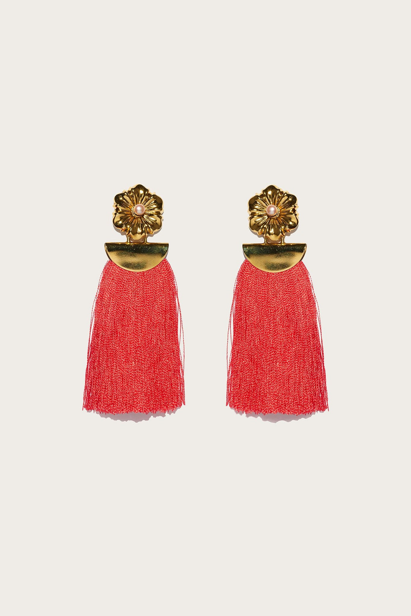 Poppy Fringe Earrings by Lizzie Fortunato
