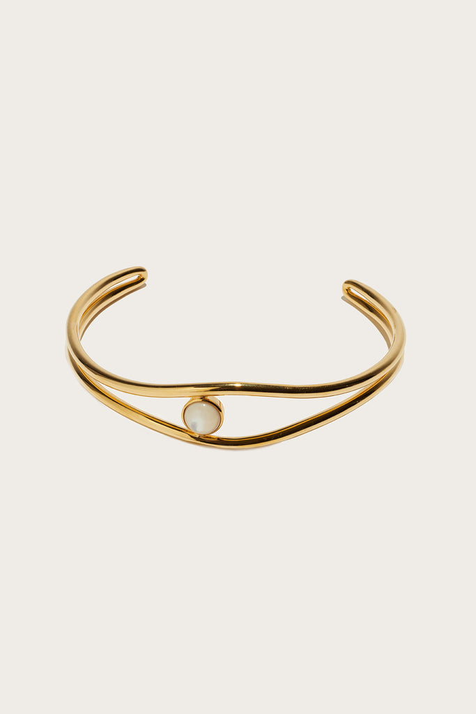 Double wave choker, Gold