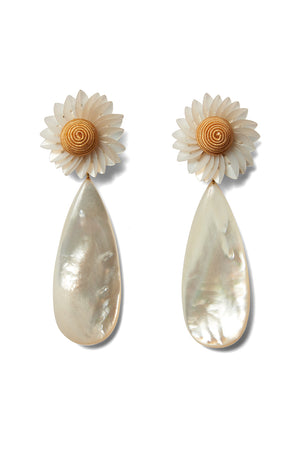 Lizzie Fortunato - fresh cut daisy earrings