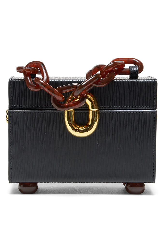 Lizzie Fortunato - cinema box bag, onyx