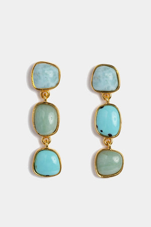 Lizzie Fortunato - blue current earrings