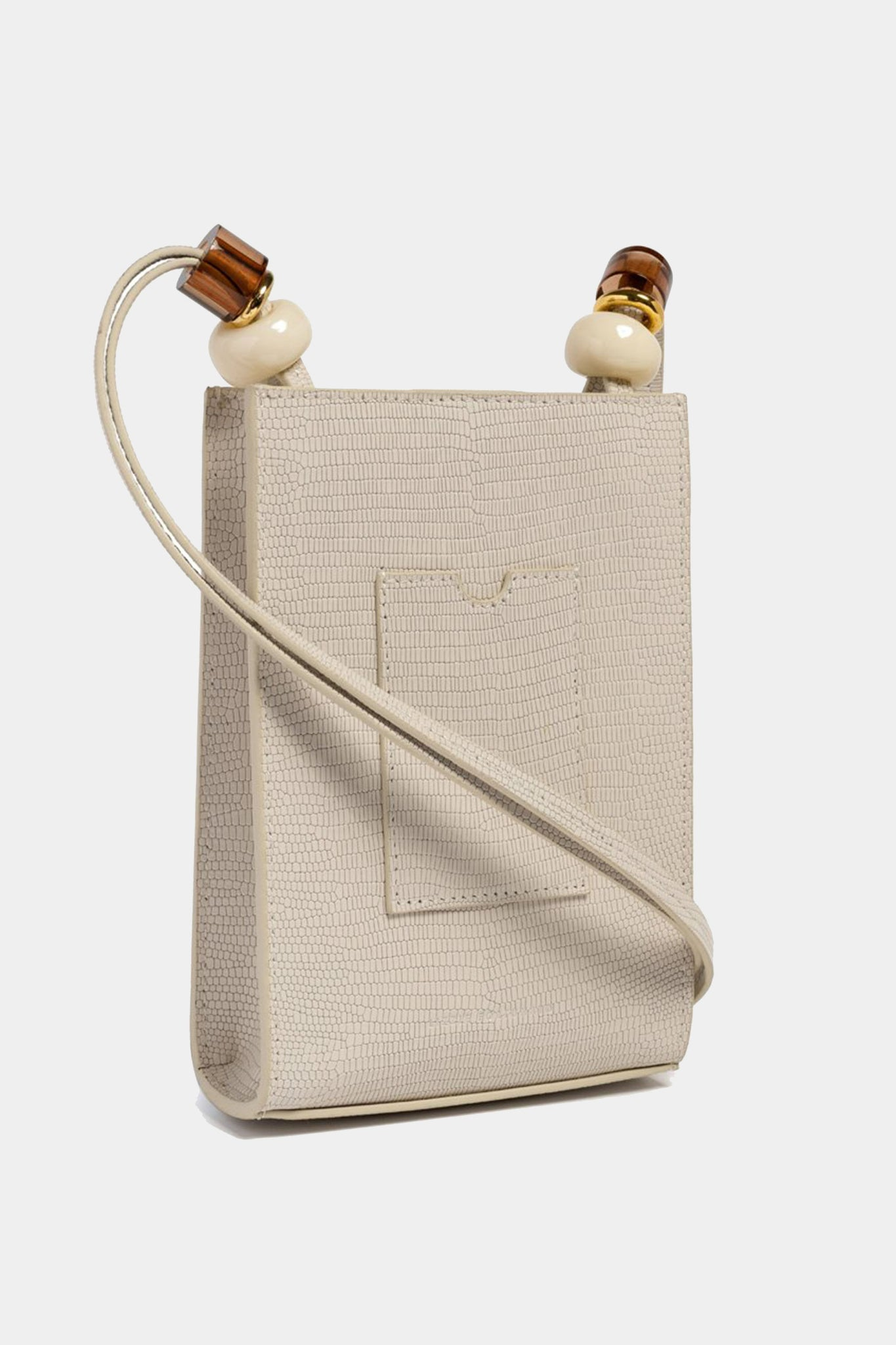 Lizzie Fortunato - ruby bag in lizard, white