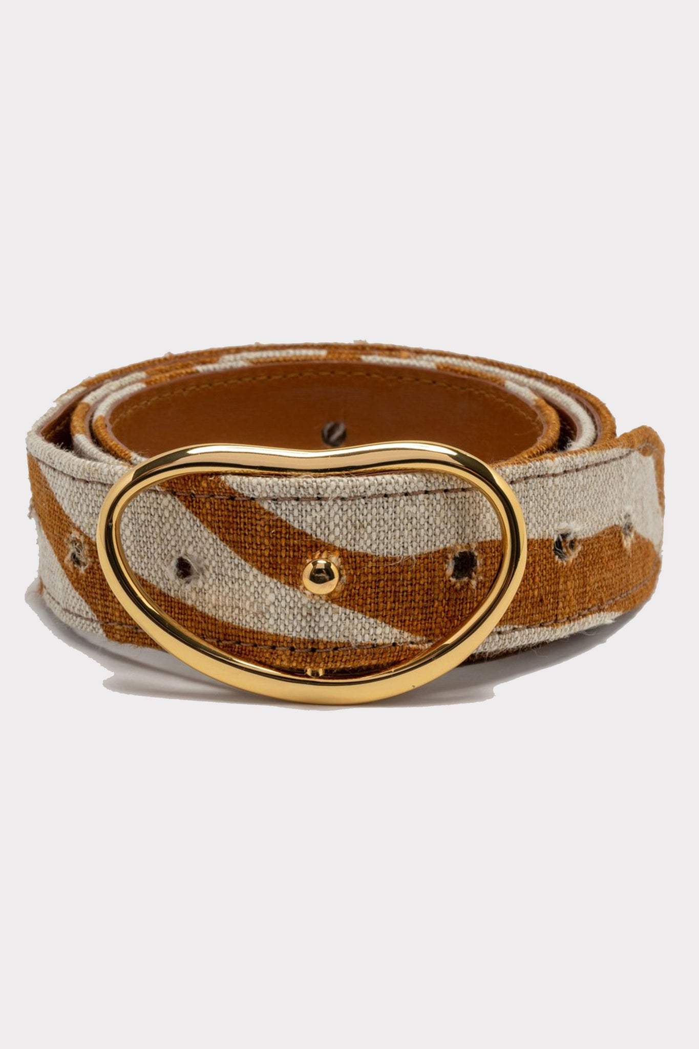 wide georgia belt in bronze, zebra