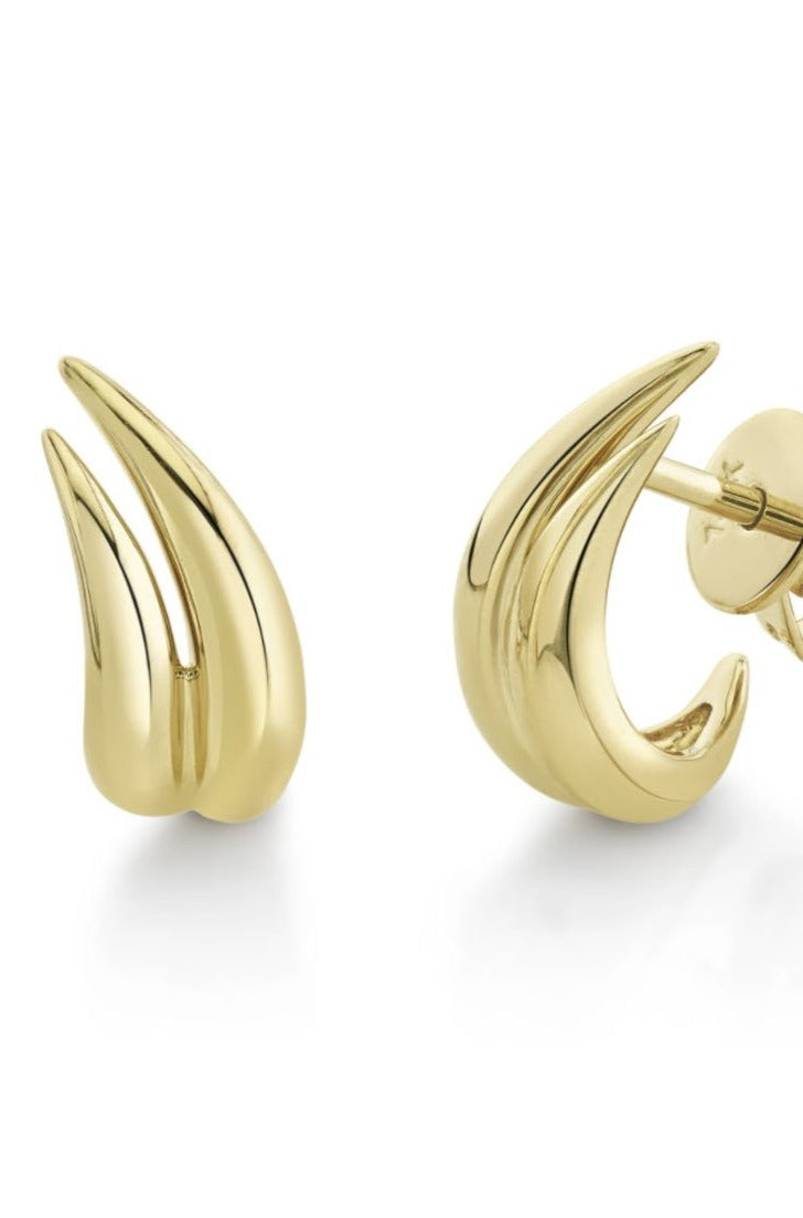 Gabriela Artigas - garra earrings, gold