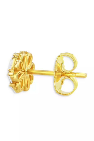 SUZANNE KALAN - diamond cluster earrings, yellow gold