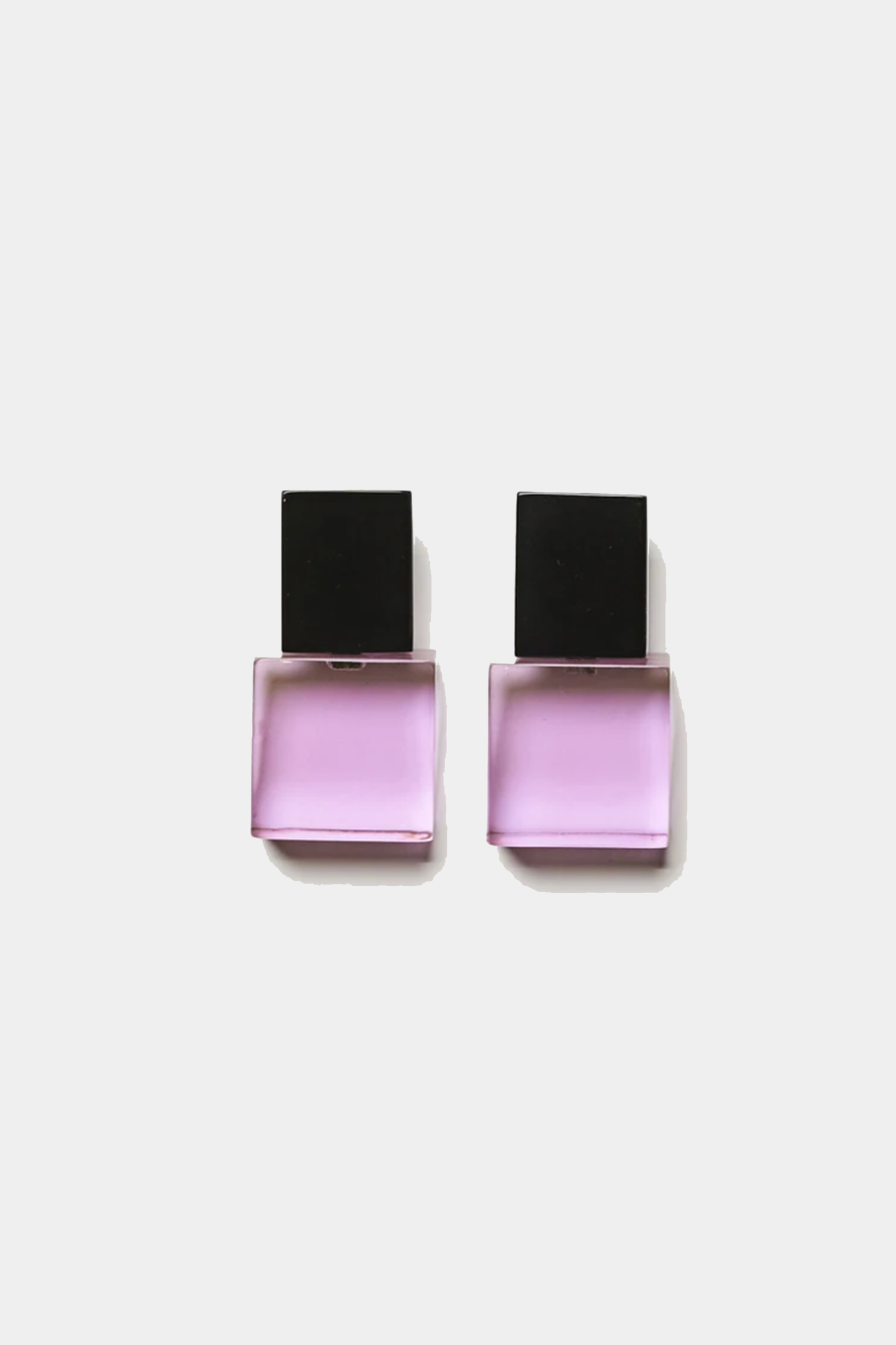 MONIES - RACHEL EARCLIPS, purple and black
