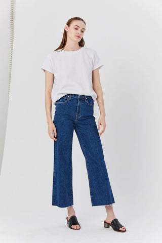 Grace Crop Jeans, Dark Blue