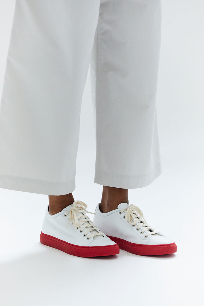 Frida Sneaker, White & Red