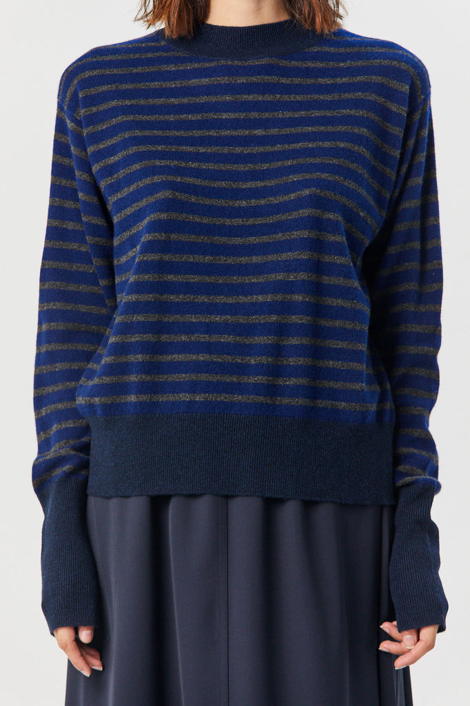 SOFIE D'HOORE - Manda Sweater, Blue Stripe