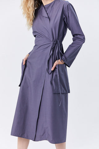 Wrap Dress, Steel