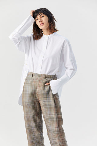 Digit Split Placket Shirt, White