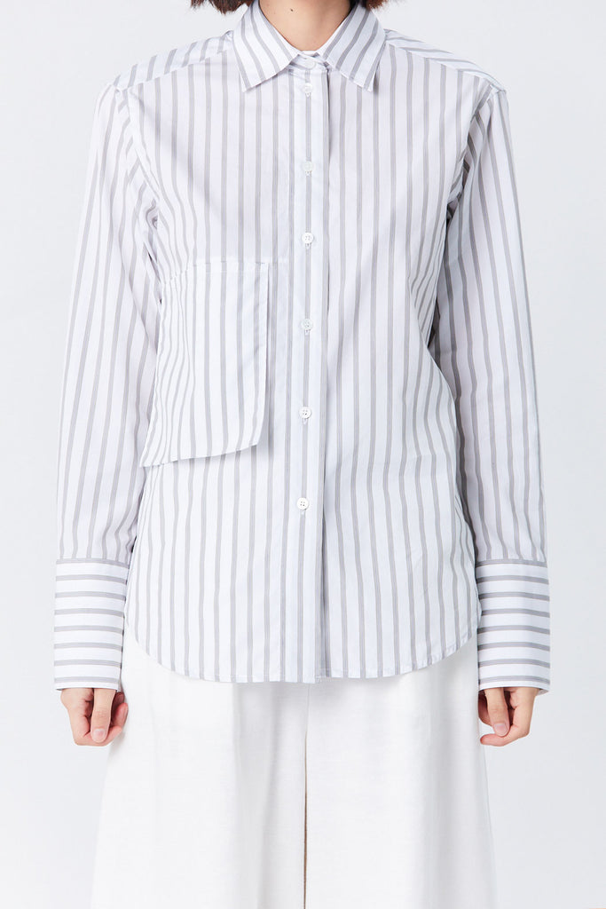 Studio Nicholson - Frenkel Drop Pocket Shirt, Stripe