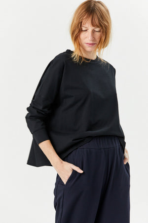 Studio Nicholson - Long Sleeve Loop Tee, Black