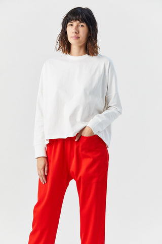 Long Sleeve Loop T-Shirt, White
