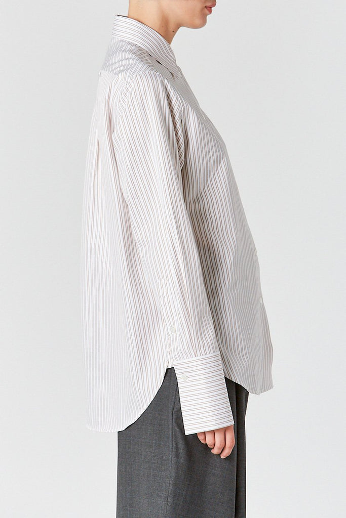 Plain Stripe Shirt, Mustard