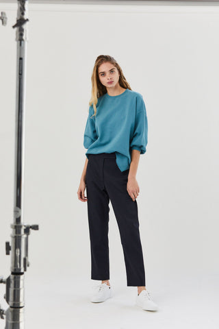 Slim Tailored Trousers, Navy