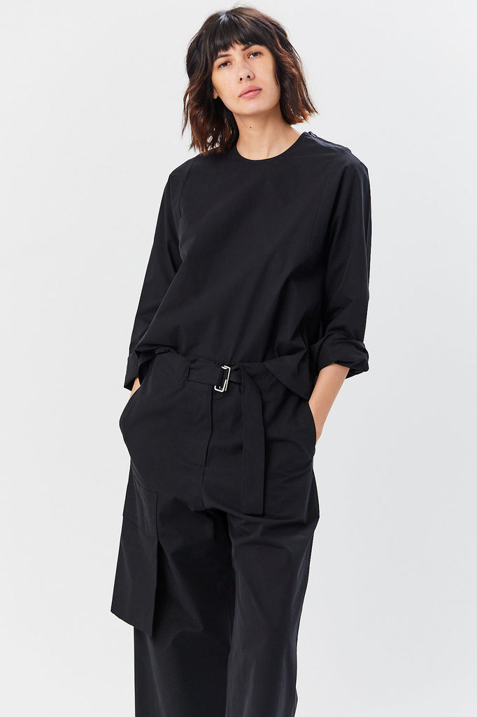 Studio Nicholson - Tolan Top, Black