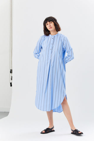 Flack Dress, Blue Stripe