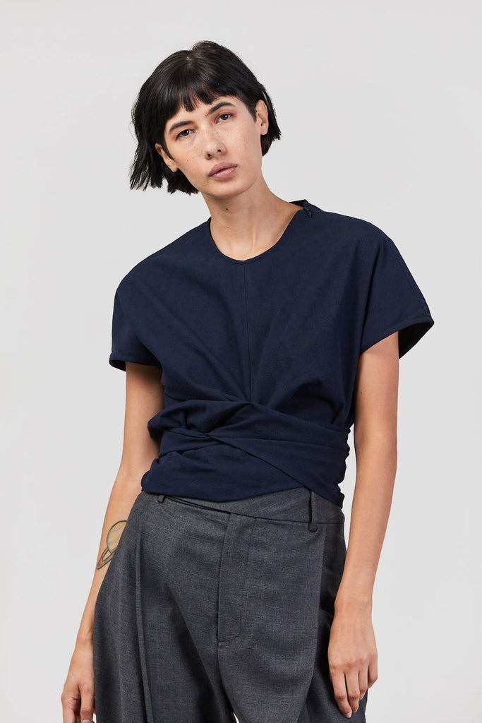 Studio Nicholson - Twist Tie Top, Navy