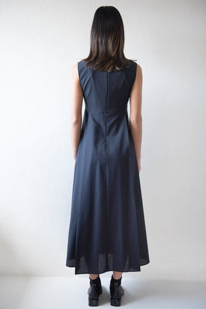 Studio Nicholson - TEATRINO v-neck dress, dark navy