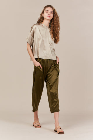 Oversize tee with pocket, sand