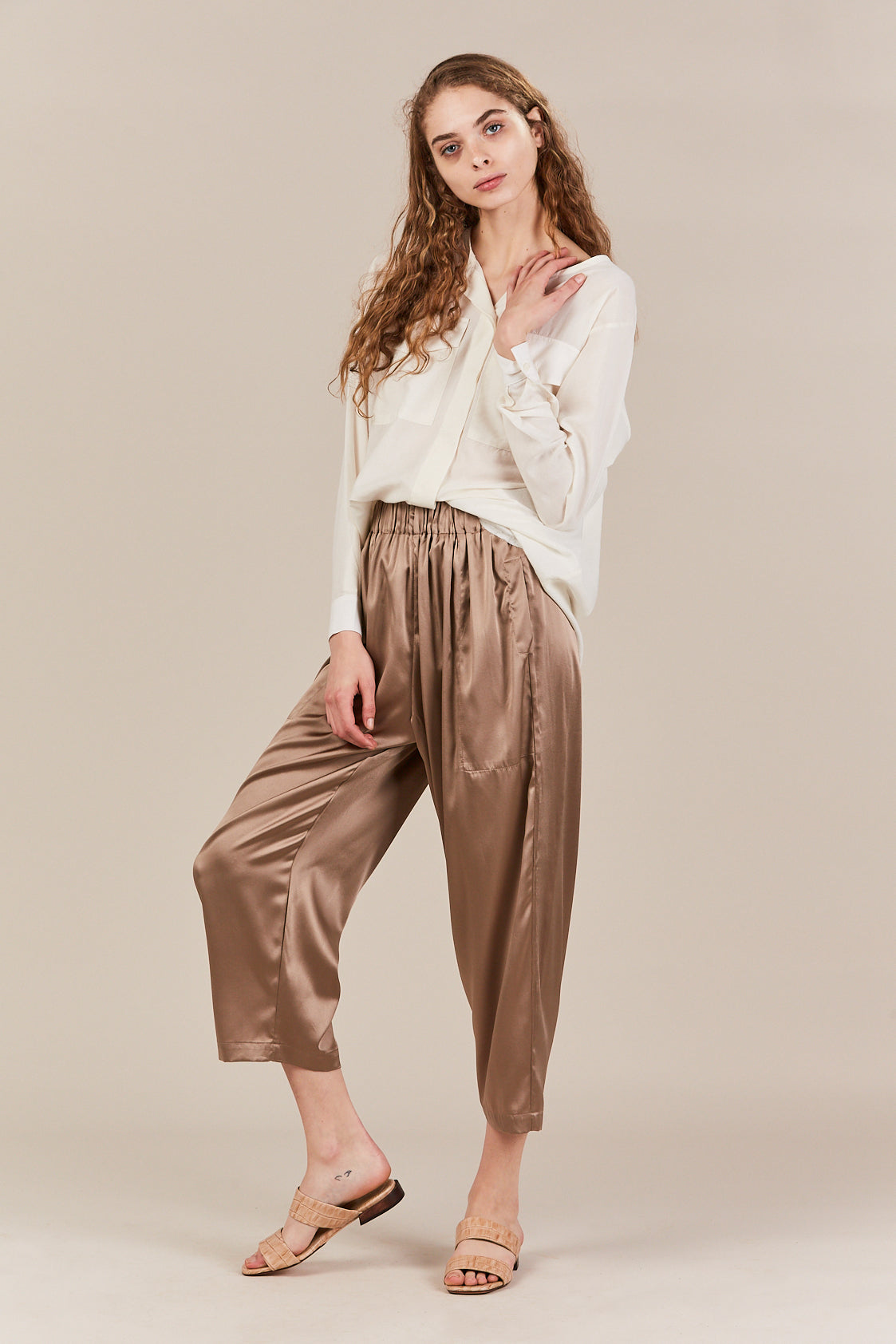 Suzanne Rae - Relaxed Pant, taupe