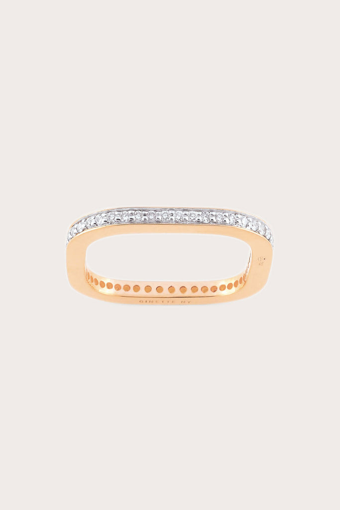 Ginette NY - Diamond TV Ring, Rose Gold