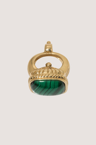The Regent Fob, Gold & Malachite