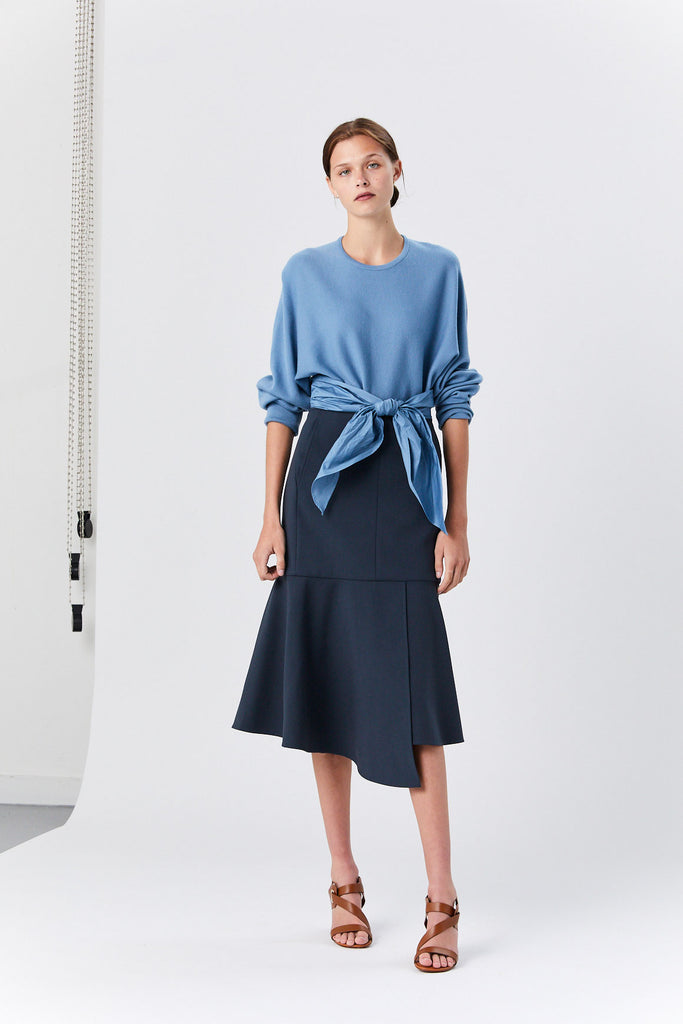 Tibi - Anson Stretch Skirt, Prussian Blue