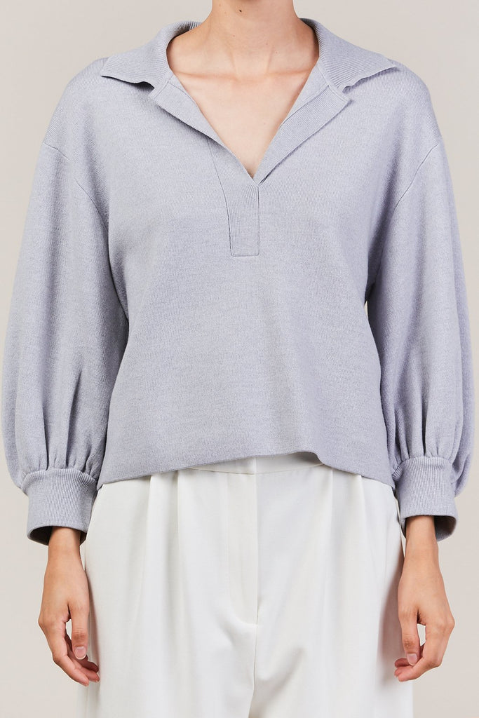 Tibi - bell sleeve polo pullover