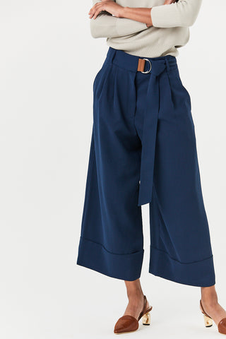 Bianca Cropped Pants, Navy