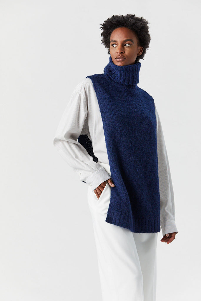 TIBI - Cozette Alpaca Turtleneck, Navy