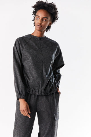 Cropped Sweatshirt, Grey Malange