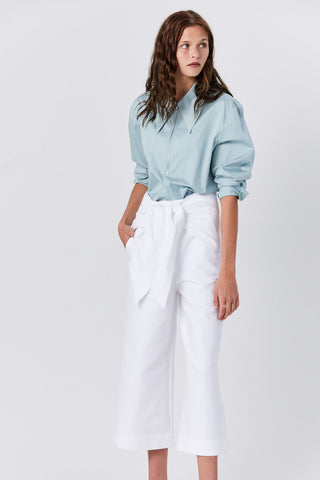Demi Crop Pant, White
