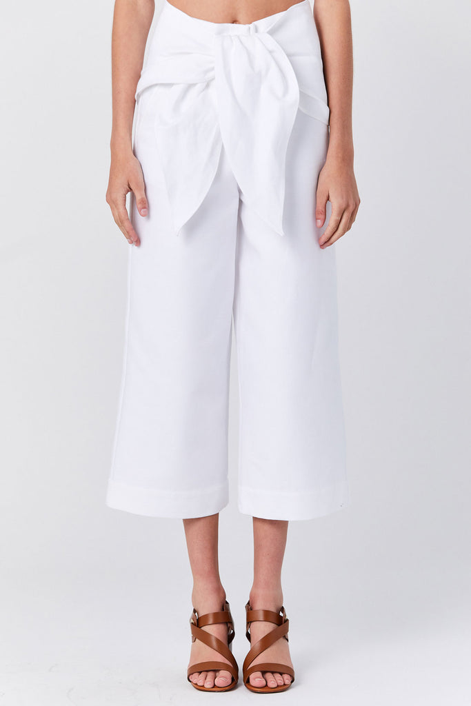 Tibi - Demi Crop Pant, White
