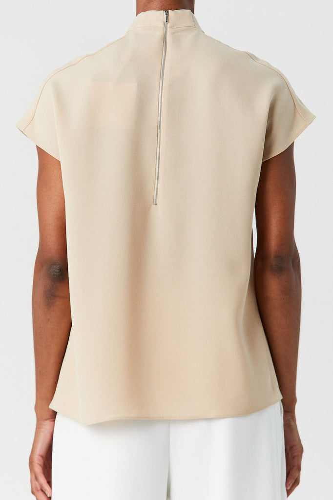 TIBI - Esme High Neck Sleeveless Top, Light Burley