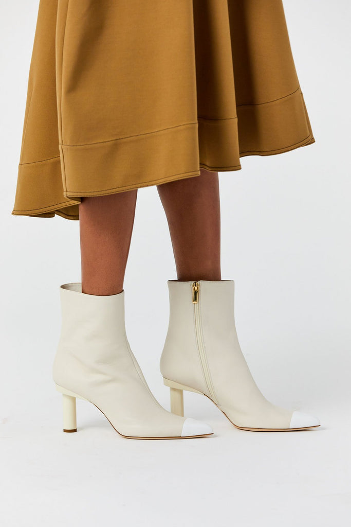 Grant Boots, Ivory & Bright White