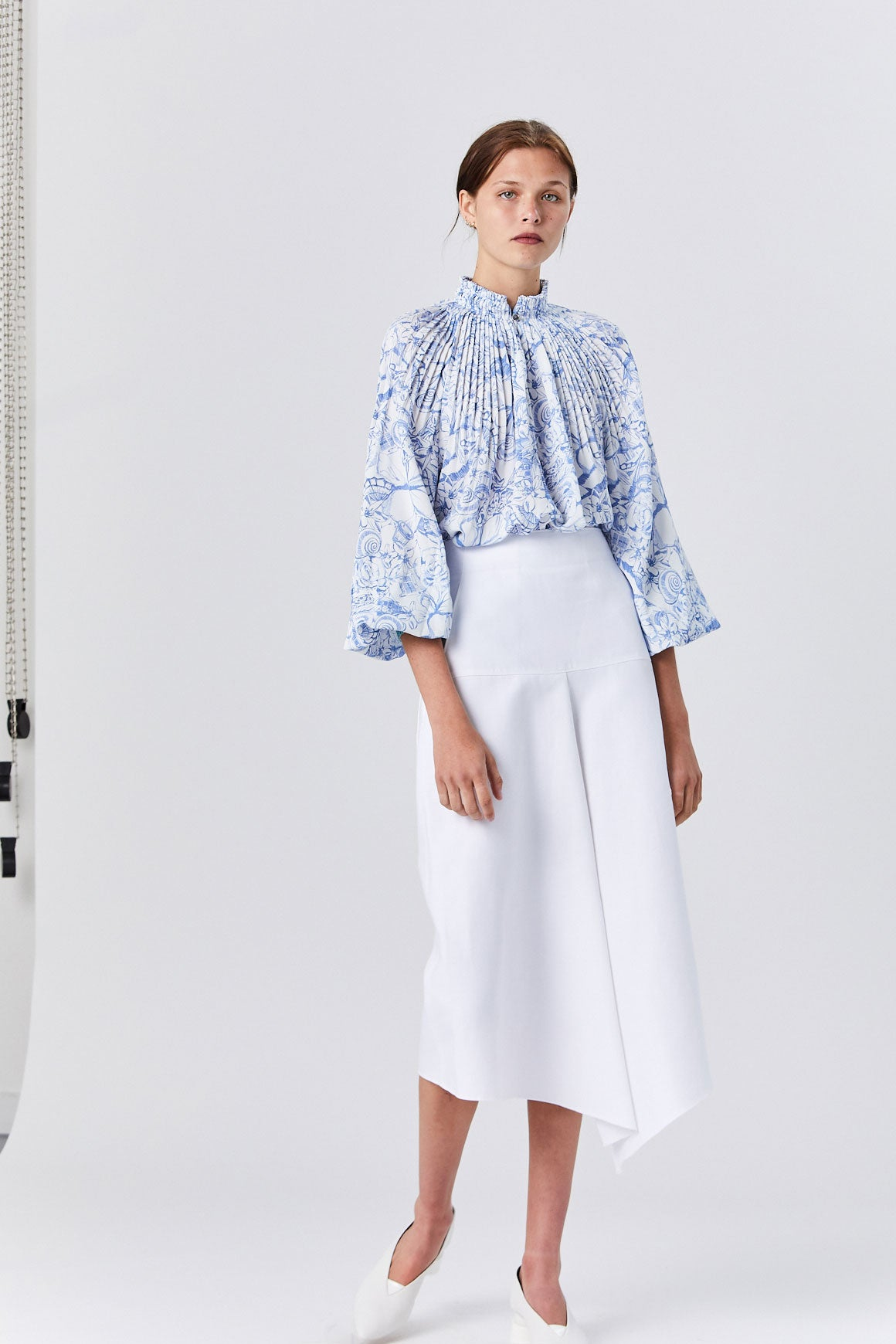 ced819e0b816a6 Tibi - Isa Toile Cropped Edwardian Top