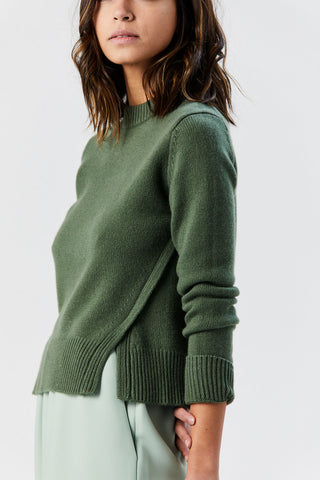 Cashmere Crewneck Pullover, Army