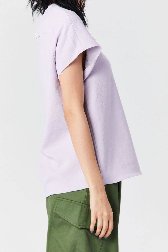 TIBI - Square Neck Top, Lavender